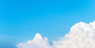 clear blue sky with cloud as frame used as template to input text stock photos