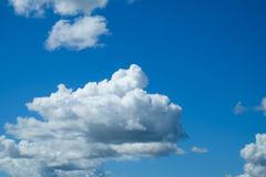 Clear blue sky with cloud for backdrop usage day time Royalty Free Stock Photography