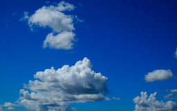 Clear blue sky with cloud for backdrop usage day time Stock Photography