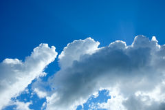 Clear blue sky with cloud for backdrop usage day time Royalty Free Stock Images