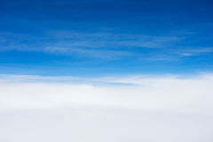 Clear blue sky with cloud Stock Photography