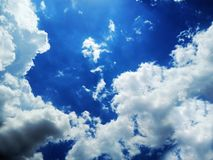 Clear blue sky with cloud. royalty free stock photo
