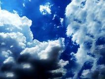Clear blue sky with cloud. stock photos