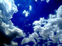 Clear blue sky with cloud. royalty free stock image