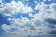 Clear blue sky with cloud. stock photography