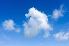 Clear Blue sky. With clouds Stock Photos