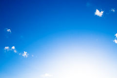 The clear blue sky Stock Photography