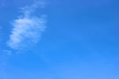 Clear blue sky in daytime Stock Images