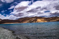 Padgong Lake Leh royalty free stock image