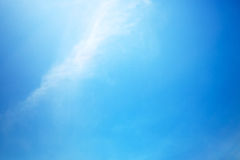 Clear blue sky. At summer day Stock Photo