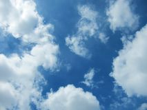 Clear blue sky on a sunny day Royalty Free Stock Images