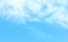 Clear blue sky with white cloud. Can use as wallpaper Royalty Free Stock Photos