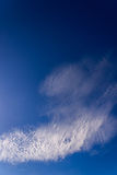 Clear blue sky and white clouds with sunshine daylight,  backgro Royalty Free Stock Images