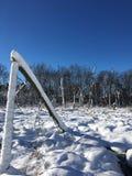 Winter in Michigan stock photos