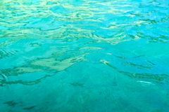 Clear blue water as backgrund Stock Photography