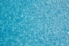 Clear blue water background Stock Photo