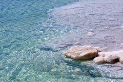 Clear, Blue water, Dead sea, Israel Royalty Free Stock Photography