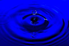 Clear Blue Water Drop Royalty Free Stock Image
