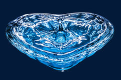 Clear blue water drop Stock Images