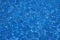 Clear Blue Water in a Pool Stock Photos