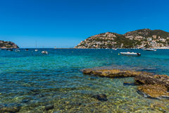 Clear Blue Water of Port d'Andratx Mallorca Stock Photos
