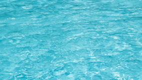 Clear blue water in the swimming pool. With highlights stock footage