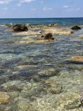 The clear blue waters. Aegean sea Paphos Stock Photo