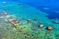 The clear blue waters near Corfu Town Royalty Free Stock Image