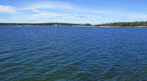 Clear blue waters of  Southwest Harbor Stock Photo