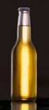 Clear bottle of beer Royalty Free Stock Images
