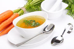 Clear broth Royalty Free Stock Images