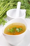 Clear broth Stock Images