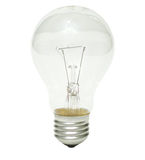 Clear bulb. A clear lightbulb isolated on white Stock Images