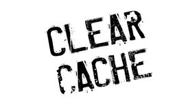 Clear Cache rubber stamp Royalty Free Stock Image