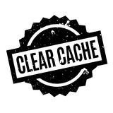 Clear Cache rubber stamp Stock Photo