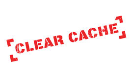 Clear Cache rubber stamp Stock Photos