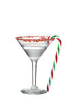 Clear candy cane martini Royalty Free Stock Photo