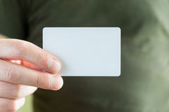 Clear card in hand Stock Photography