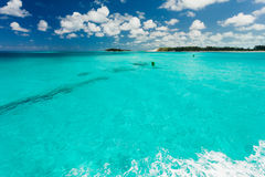 Clear carribean water Stock Photo