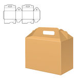 Clear Carton Box. Vector Illustration of Clear Gift Carton Box for Design, Website, Background, Banner. Package Template isolated on white. Retail pack with for Stock Photography