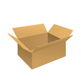 Clear Carton Box. Vector Illustration of Clear Gift Carton Box for Design, Website, Background, Banner. Package Template isolated on white. Retail pack with for Royalty Free Stock Image