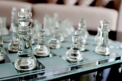 Clear chess set Royalty Free Stock Photo