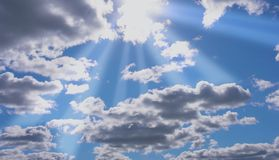 Clear cloudy sky Royalty Free Stock Images