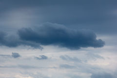 Clear cloudy sky with large dark cloud Royalty Free Stock Images