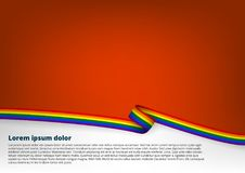 Clear Color Background With LGBT Flag. EPS10 Vector stock illustration