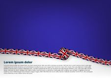Clear Color Background With United Kingdom Flag. EPS10 Vector Stock Photography