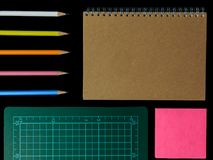 Clear color note book opened for note or lecture note or memo fo Stock Photo