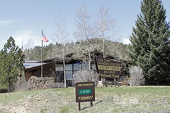 Clear Creek Ranger Station Stock Photo