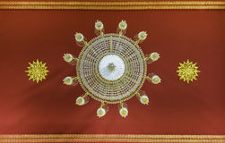 Clear Crystal Lantern on temple ceiling Royalty Free Stock Photo