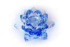 Clear Crystal Lotus Blossom Flower Stock Images